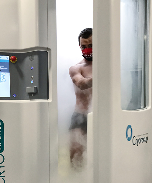 séance de cryothérapie corps entier thomas boudat bordeaux mérignac cryorecup récupération sportive